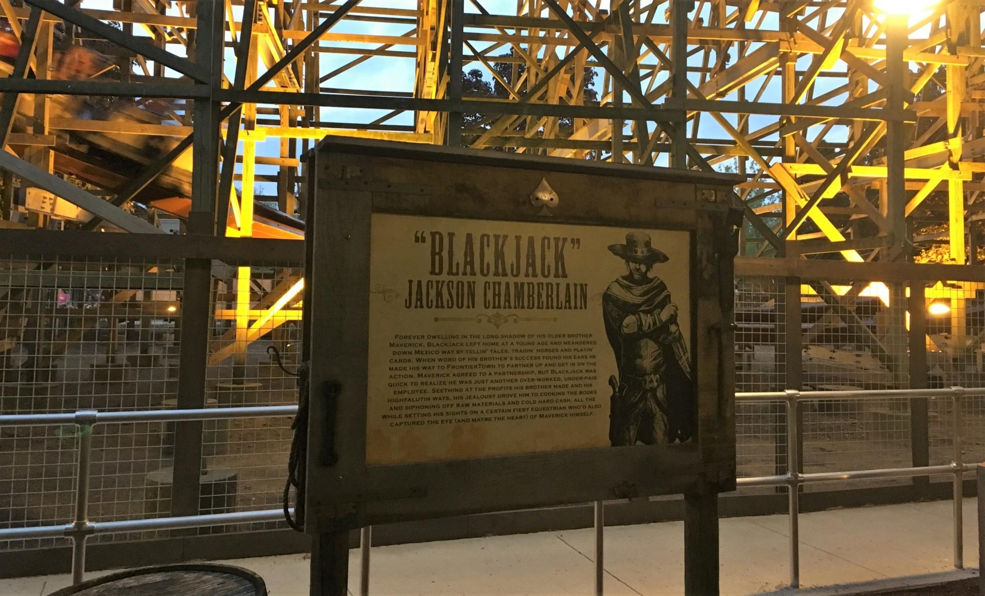 Cartel que te cuenta la vida de Blackjack    @arracuu