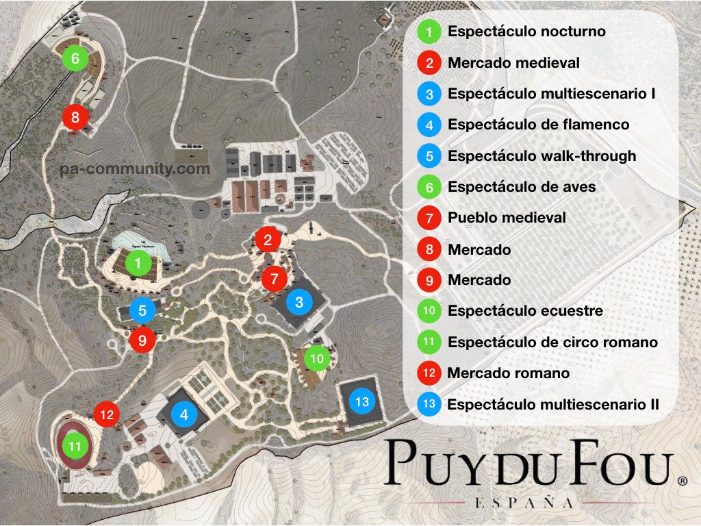 Plano de Puy du Fou España