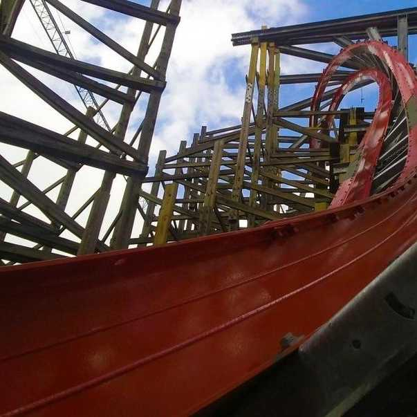 Foto de Medusa Steel Coaster. Six Flags Mexico 2014.